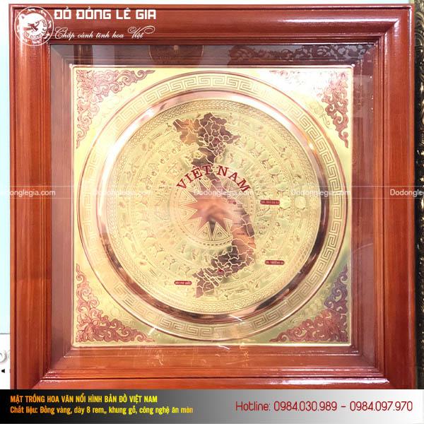 Tranh mặt trống đồng hình Bản đồ Việt Nam