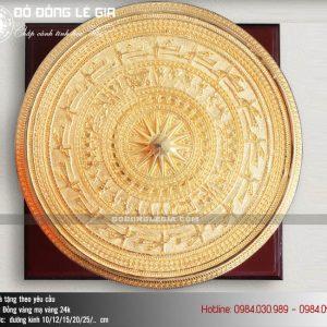 ok - Trống đồng quà tặng mạ vàng 24k cao cấp