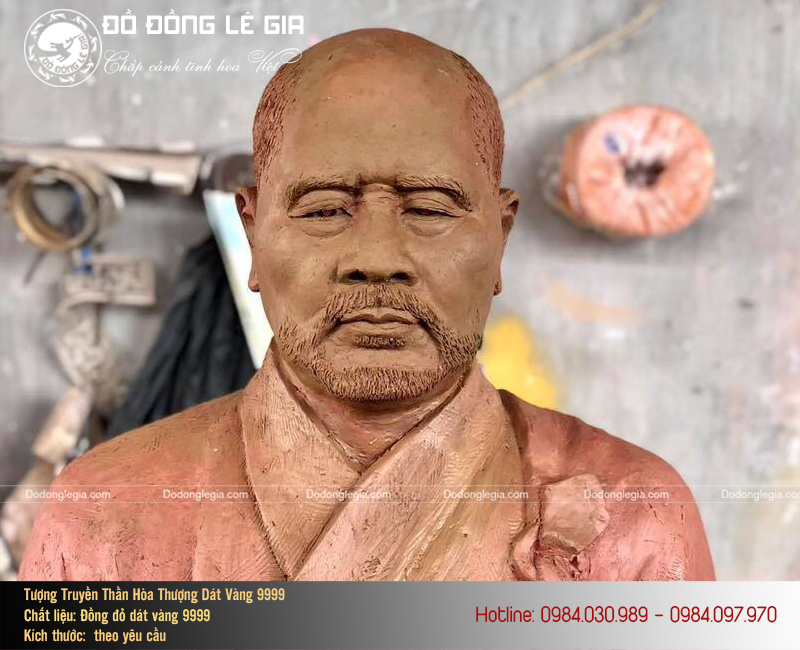 Đúc Tượng Đồng Truyền Thần Hòa Thượng Dát Vàng 9999