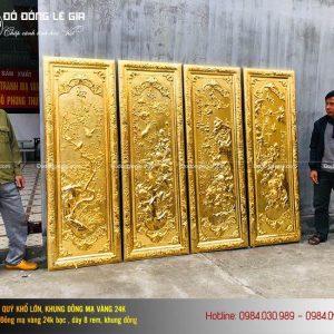 Thế nào là tranh tứ quý mạ vàng