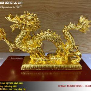 tượng rồng thếp vàng 9999