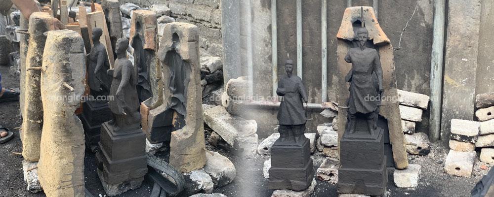 Bước 4: Dấp khuôn đúc tại xưởng đúc đồng Lê Gia